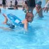 息子のプールデビュー 白井市民プール