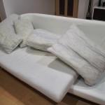 ソファーのカバーを交換。CURVATURE(カーブチャー)でお好みの組み合わせ。