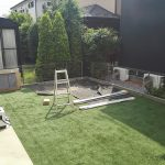 庭に倉庫を設置しました。玄関スッキリ!